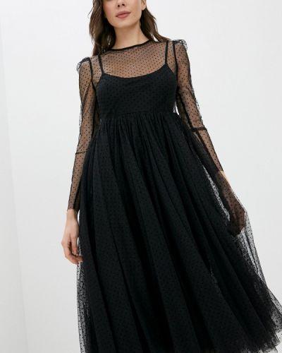 Черное вечернее платье Danmaralex