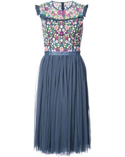 Платье с цветочным принтом солнце приталенное Needle & Thread