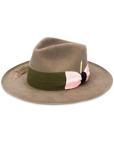 Шляпа с широкими полями бежевый шляпа-федора Nick Fouquet