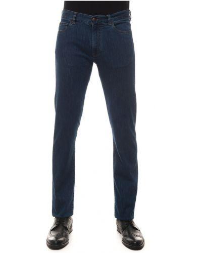 Niebieskie mom jeans Canali
