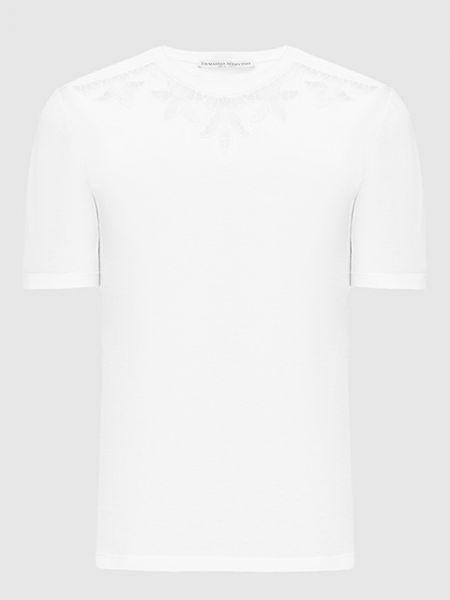 Белая футболка Ermanno Scervino