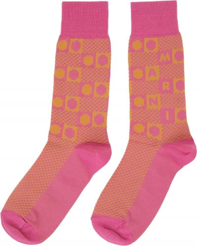 Розовые носки жаккардовые Marni