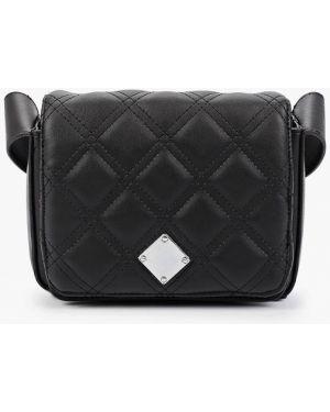 Кожаная сумка через плечо черная Code
