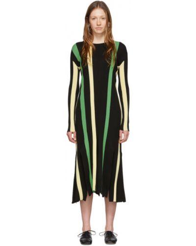 Платье макси в полоску вязаное Loewe