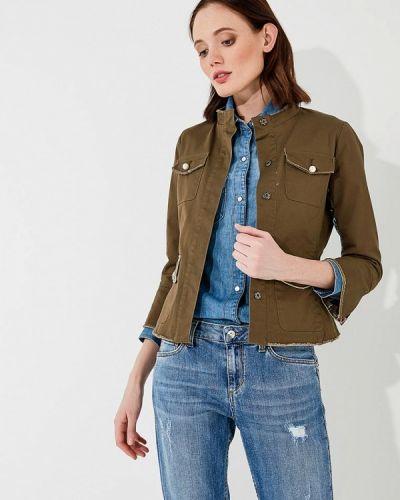 Джинсовая куртка весенняя зеленая Liu Jo Jeans