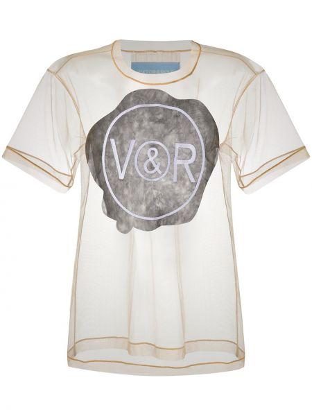 Прямая футболка прозрачная из фатина с круглым вырезом Viktor & Rolf