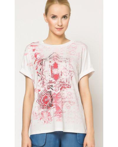 Różowa bluzka materiałowa Deni Cler Milano