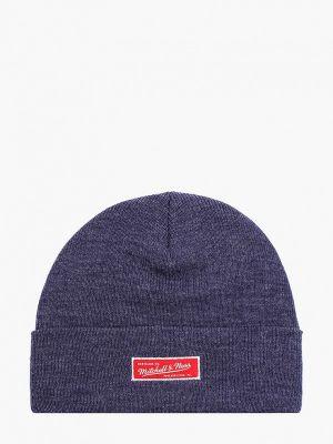 Синяя зимняя шапка Mitchell & Ness