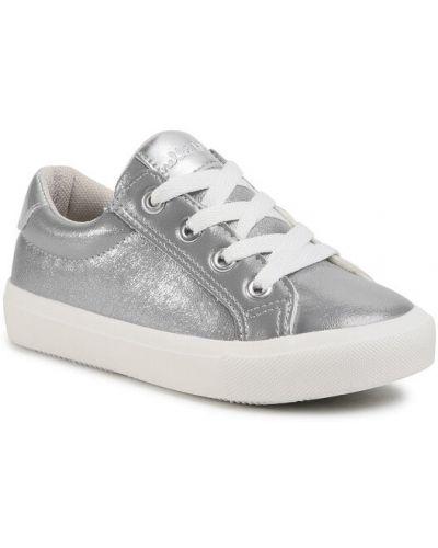 Sneakersy srebrne Nelli Blu