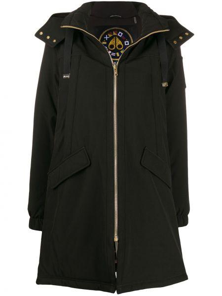 Черная длинное пальто Moose Knuckles
