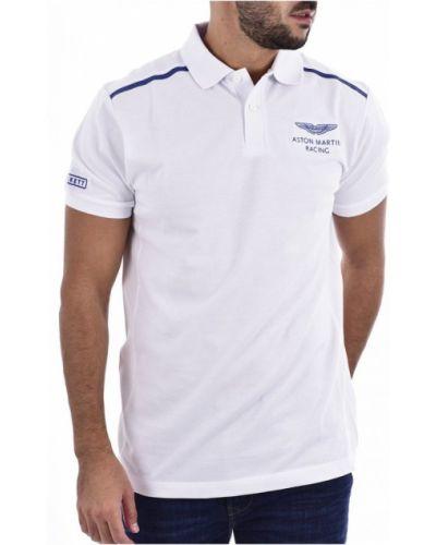 Biała koszulka Hackett