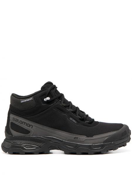 Черные кроссовки на шнуровке со вставками Salomon S/lab
