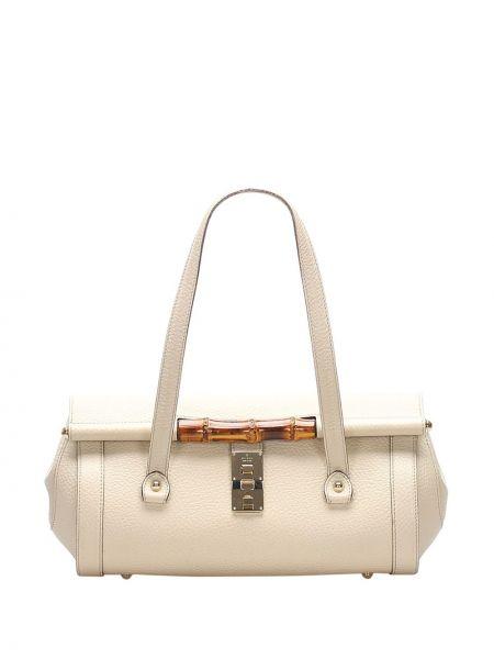 Белая сумка на плечо металлическая на молнии с карманами Gucci Pre-owned
