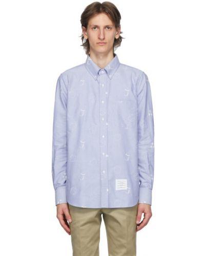 Koszula z długim rękawem Oxford z logo Thom Browne