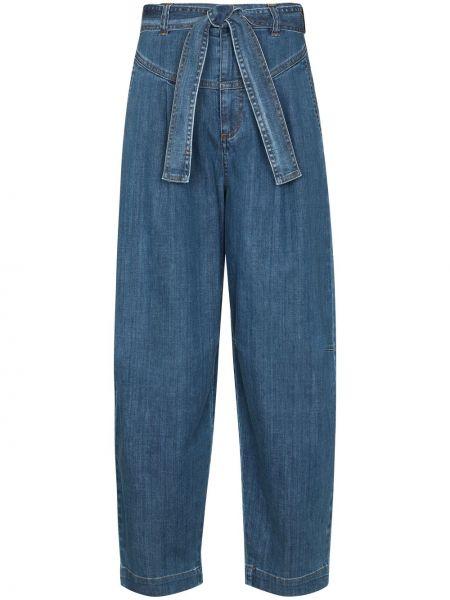 Хлопковые синие свободные широкие джинсы свободного кроя See By Chloé