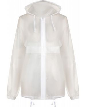 Белый спортивный дождевик на молнии с карманами Outventure
