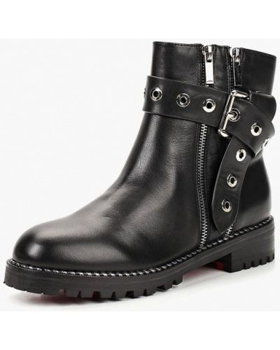 Кожаные ботинки осенние на каблуке Marie Collet