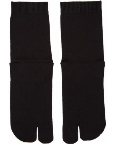 Czarne wysoki skarpety bawełniane Maison Margiela
