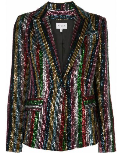 Пиджак с заплатками в полоску Milly