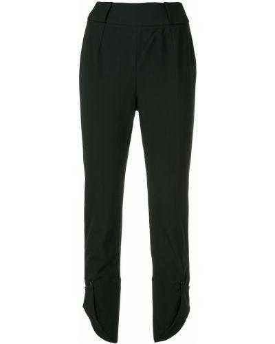 Черные укороченные брюки с поясом Kitx