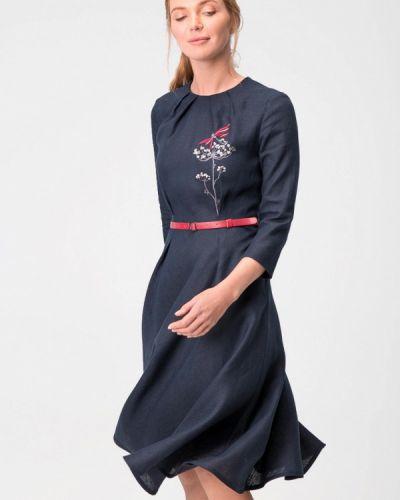 Повседневное платье осеннее синее Garmoniya