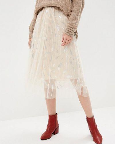 Плиссированная юбка бежевый Paccio