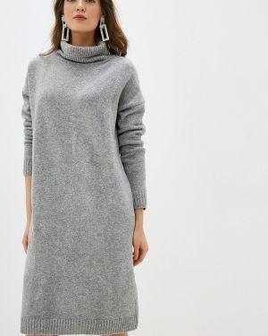 Платье серое вязаное Incity