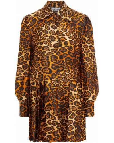 Платье мини атласное Paul & Joe