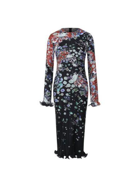 Платье с цветочным принтом с оборками Givenchy