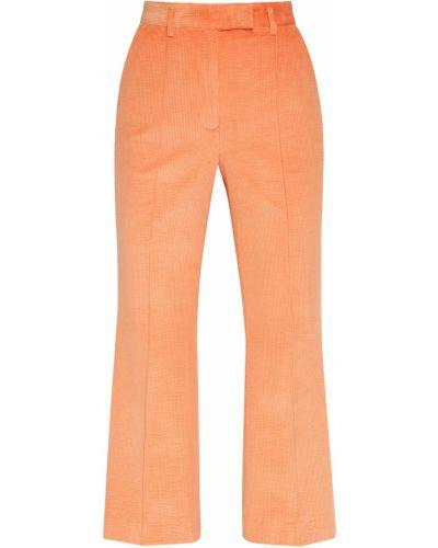 Оранжевые брюки вельветовые с поясом Acne Studios