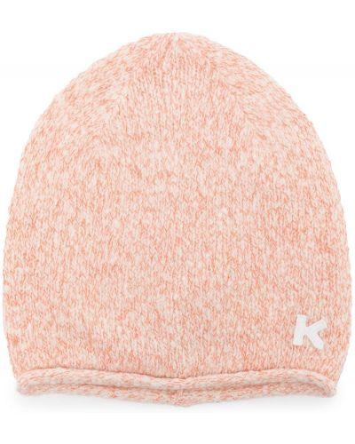 Шерстяная шапка бини - розовая Kenzo