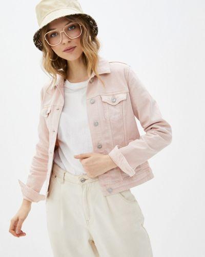 Розовая джинсовая куртка Springfield