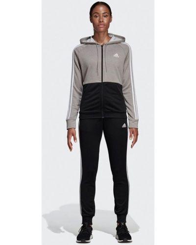 Спортивный костюм черный серый Adidas