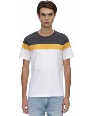 Złoty żółty t-shirt Levi's Red Tab