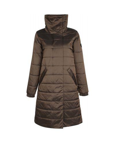 Теплая коричневая свободная утепленная куртка на молнии Outventure
