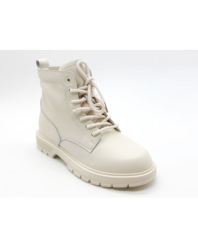Кожаные ботинки - бежевые Lonza