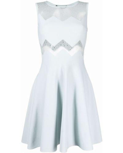 Niebieska sukienka rozkloszowana z wiskozy Antonino Valenti
