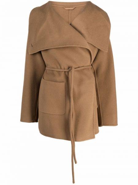 Коричневое длинное пальто Closed