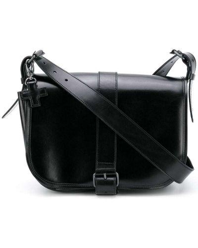 Черная кожаная сумка с пряжкой A.f.vandevorst