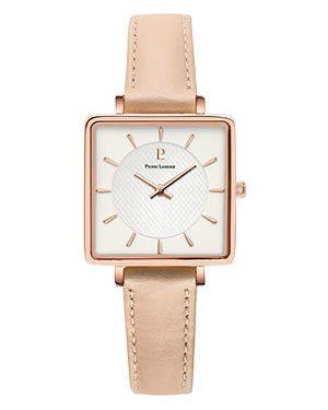Кожаные часы механические - белые Pierre Lannier
