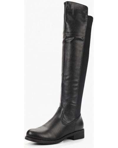Черные ботфорты кожаные Go-go