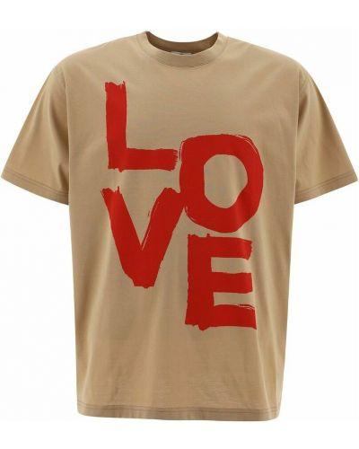 T-shirt - beżowa Burberry