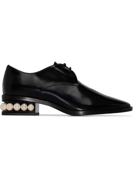 Skórzany czarny buty brogsy brogues Nicholas Kirkwood