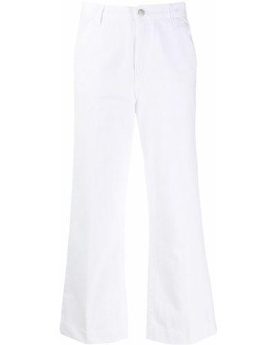 Укороченные джинсы свободные белые J Brand