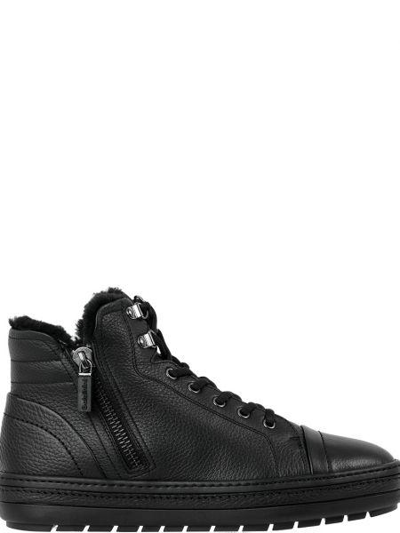 Кожаные черные ботинки Baldinini