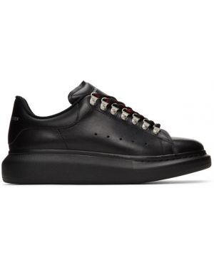 Кроссовки черные на каблуке Alexander Mcqueen