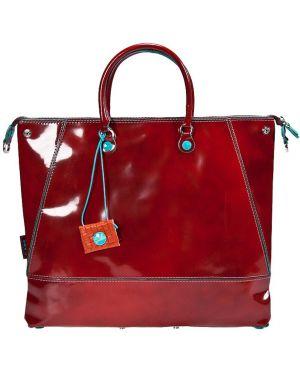 Кожаная сумка - красная Gabs