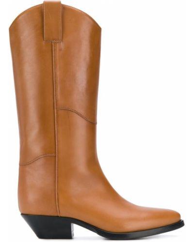 Коричневые ботинки на каблуке P.a.r.o.s.h.