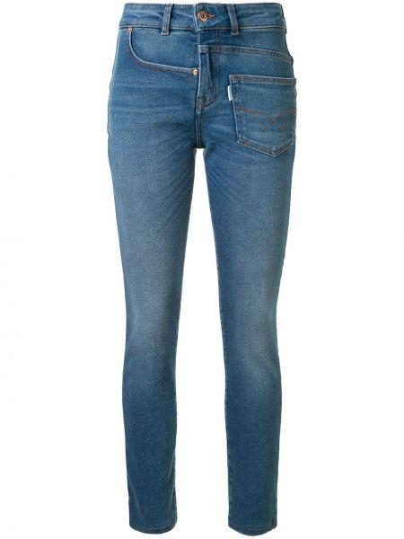 Хлопковые синие джинсы с карманами на молнии Filles A Papa