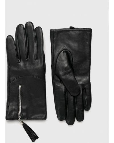 Черные кожаные перчатки Medicine